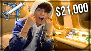 ركبت اغلى طيارة في العالم ! ( درجة اولى سعرها 21,000$ )