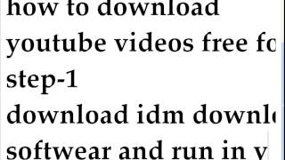 youtube video download free