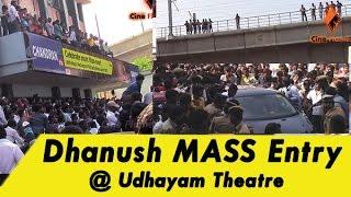 Dhanush MASS Entry @ Udhayam Theatre - Anegan Movie | Anirudh | FULL Video