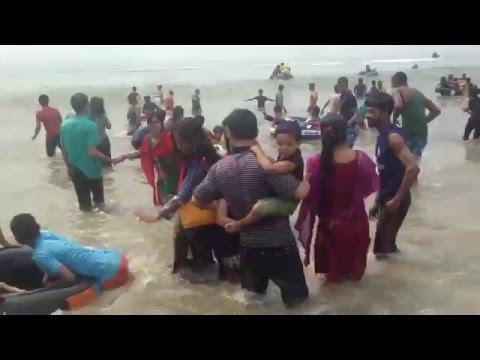 Cox's Bazar sugonda Sea Beach girls and women bathing