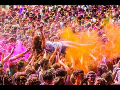 Holi Festival of Colors n love - World's BIGGEST Color party - Hybiz.tv