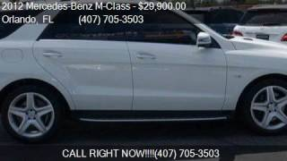 2012 Mercedes-Benz M-Class ML 550 AWD 4MATIC 4dr SUV for sal