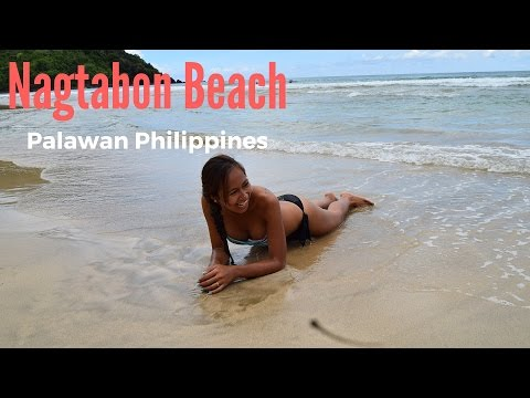 Nagtabon Beach Palawan Philippines -- with my sexy Filipina girlfriend.