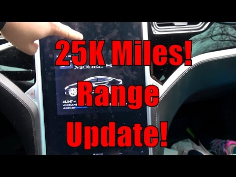 Tesla Model S 90D: Rated Range Degradation 25000 Miles 50 Weeks Ownership W/Chart
