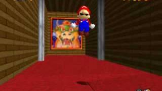 Super Mario 64 Getting Behind the Trapdoor (Non Tas)