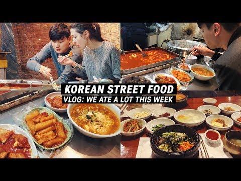 Favorite Korean Street Food 🍜 & Weekly VLOG (국제커플) 외국에 계신분들이 가장 그리워할 한식!
