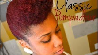 Updo Natural Hair Tutorial: Classic Pompadour
