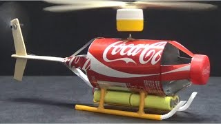 How to make Coca Cola Airplane sewing off the ground - DIY Coca Cola Helicopter  Toys