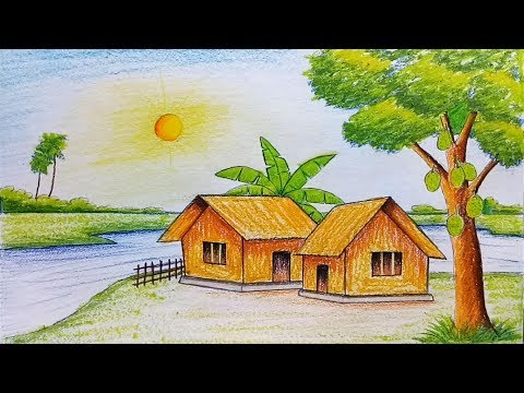 Xxx Mp4 How To Draw Scenery Of Summer Season Step By Step Very Easy 3gp Sex