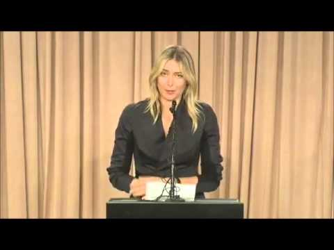 Fairly ugly carpet joke at Maria Sharapova s major announcement press conference