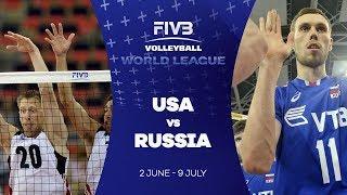 USA v Russia highlights - FIVB World League