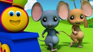 Bob The Train | Three Blind Mice | Nursery Rhymes | 3D rhymes | Kids Songs | Children Rhymes