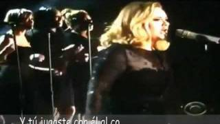Adele Rolling In The Deep - Grammy Awards 2012, Subitulado Español