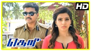 Theri Movie scenes | Vijay tries convincing Samantha's father | Mahendran wants Vijay dead