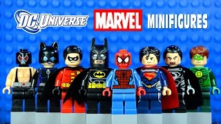 LEGO DC vs Marvel Superheroes KnockOff Minifigures Set 9 w/ Batman Robin Spider-Man & Superman