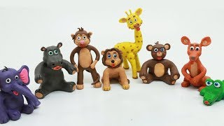 Learning Wild Animal Facts Stop Motion Cartoon Play Doh Kids Video