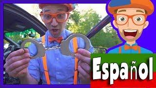 Carros de Policía para Niños con Blippi Español | Videos Educacionales para Niños