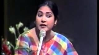 Syeda Ashifa Ahsrafi Papia as a Young TV Debater in 1990s