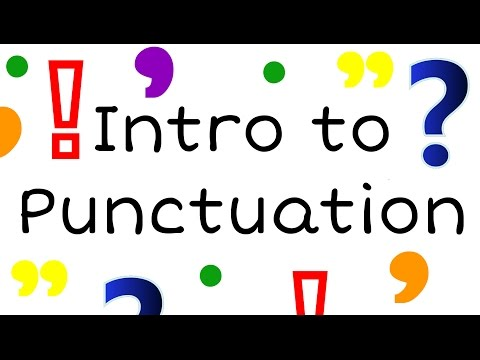 Intro to Punctuation for Kids: English