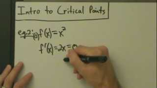 Calculus I - Intro to Critical Points (with Visual Examples)
