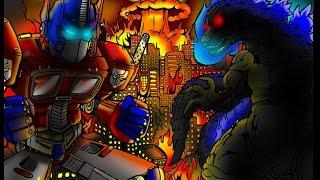 DJ Reacts to GODZILLA vs OPTIMUS PRIME! REMATCH! Cartoon Fight Club Episode 19