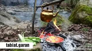 breakfast in nature. Iran