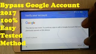 BYPASS GOOGLE ACCOUNT For Android 100% Easy Solution/FRP LOCK Reset Android mobile Phone 100% Tested