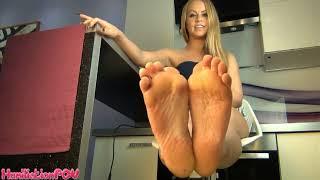 french girl feet pov