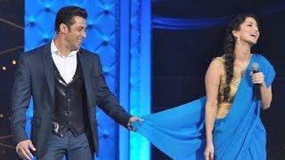 Salman Khan Teaches Sunny Leone How To Wear Saree