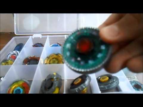 minha coleção de beyblades BRASIL
