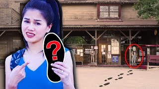 FOUND PROJECT ZORGO FOOTPRINTS & HIDDEN NOTE Exploring Old Abandoned Ghost Town in Real Life