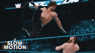 Slow-motion footage of the Triple Threat United States Title No. 1 Contender's Match: April 11, 2017