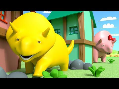 Jugando a las Escondidas con Dino y Dina los Dinosaurios   Aprende Español