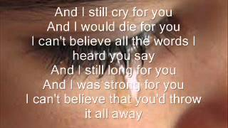 if i cry a thousand tears lyrics