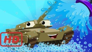 Songs for kids |  army tank | kids car wash | car cartoon for children | kids channel | videos for