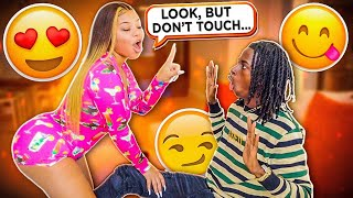 YOU CAN LOOK, BUT YOU CAN'T TOUCH PRANK ON BOYFRIEND!!