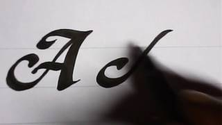 How to write A & B style letters | calligraphy | mazic writer