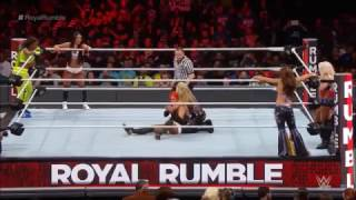 WWE Royal Rumble 2017│Mickie James,Alexa Bliss & Natalya vs Becky ,Naomi & Nikki