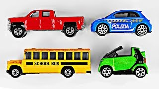 Learning Colors with Street Vehicles for Kids Toy Cars & Trucks Learn Colours Hot Wheels Matchbox