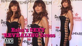 HOT ! Esha Gupta's SEXY Black REVEALING Dress