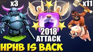 Pekka + Hogs: HPHB TH9 STRONG WAR ATTACK STRATEGY 2018 | Clash of Clans