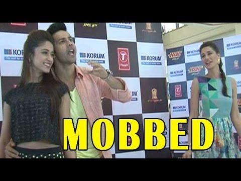 Main Tera Hero | Varun Dhawan, Nargis Fakhri &  Ileana D'Cruz  mobbed by fans in a mall