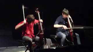 2Cellos (Welcome To The Jungle) Cover, Rogers Arena, Vancouver, Apr.25th. 2018