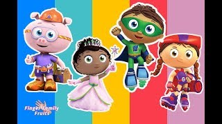 Super Why Wrong Heads Finger Family Song for Kids