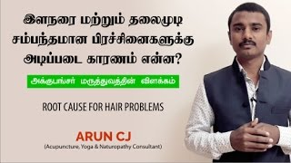 Acupuncture explanation about premature grey hair (tamil)