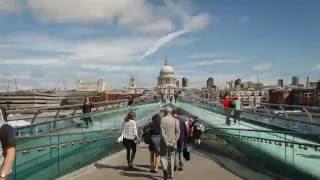 London Millennium Bridge Time Lapse
