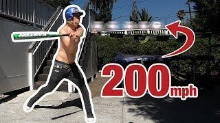Impossible Baseball Hit (200 MPH!!!)