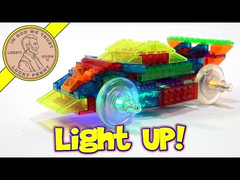 Laser Pegs Light It Up 8 In 1 Sports Car Power Block Series