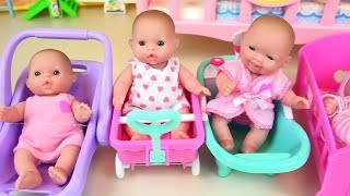 Baby doll food toys and toilet toy birthday party cake