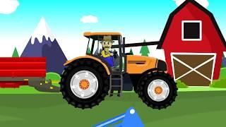 ☻ Farmer - Farm Work | Potaoes Digging | Bajki o Rolnikach - Maszyny Rolnicze Dla Dzieci ☻